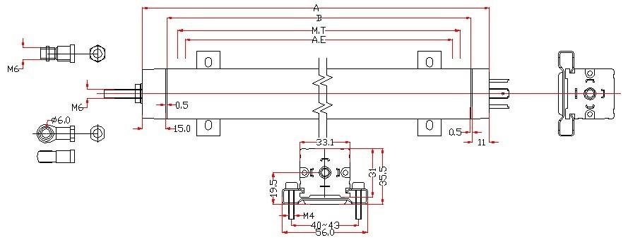 特点:   不同应用条件下,使用寿命长达100 x 106次   线性优异,高达 ±0.05%   分辨率高于 0.01mm   高运行速度   DIN 43 650标准插头和插座   防护等级IP 55   贺州直线位移传感器选型步骤:   1.量程:客户在选型中,如果量程是100mm以上且安装空间不受限制的情况下,建议使用博尔森KTC通用拉杆式系列,精度能达到0.