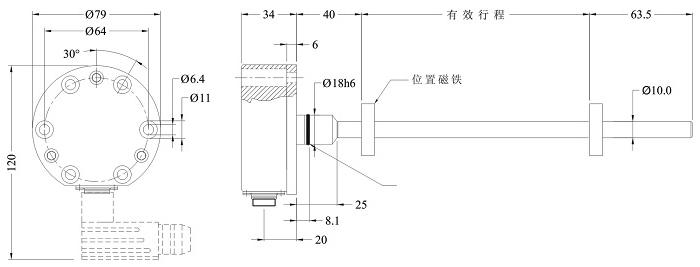 16模拟量磁致伸缩位移传感器